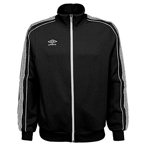 UMBRO Herren Diamond Trainingsjacke 2.0, Herren, Jacke, Diamond Track Jacket 2.0, Black Beauty/White, XX-Large