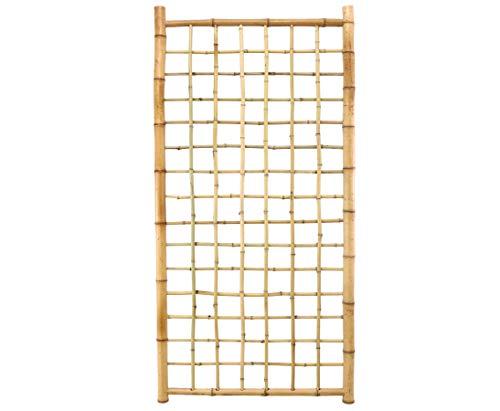 bambus-discount.com Bambus Rankgitter Ten New Line4 180x90cm, Spalier aus 20 Bambusrohren Sichtschutzwand Sichtschutzelement Sichtschutz Gartenzaun Zaunelement Sichtschutzwände Gartenzäune