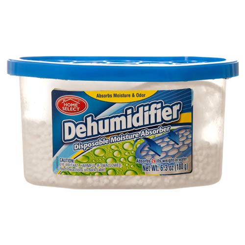 DEHUMIDIFIER 6.3 OZ DISPOSABLE MOISTURE ABSORBER, Case Pack of 12