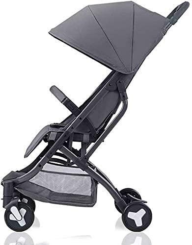 Cochecito de bebé compacto liviano de cochecito para niños pequeños, cochecito de bebé, llevar en vuelo Cochecito convertible Bebé compacto Bebé Sistema de viaje, peso ligero (Color : GRAY)