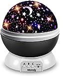 Lampara Proyector Infantil, 360° Rotación y 8 Modos Iluminación Proyector Estrellas, Luz de...