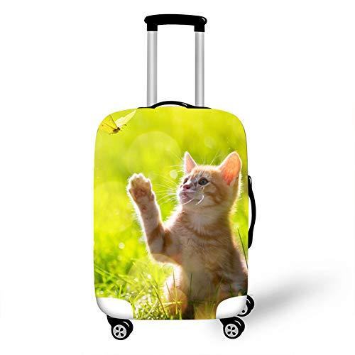 Fansu Elástico Funda Protectora de Maletas, Gato Amoroso Impresión Protector Suave Anti-Polvo Duradero y Lavable Cubierta de Equipaje Viaje Luggage Protector Cover (Mariposa,M(22-24in))