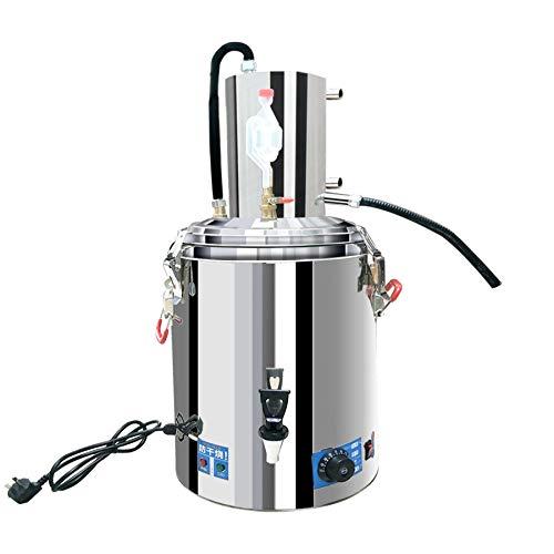 Distillatore di alcol automatico 23L Moonshine Still con riscaldamento e regolazione della temperatura 30° Temperatura costante Fermentazione e 70°/52°/42°/28° Wine Out Home Brewing Kit