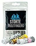 STÖRTE Troutfingers - die Forellen Strippingguards für Fliegenfischer - Fingerschutz in Universalgröße – Bachforelle, Meerforelle und Regenbogenforelle (3er-Pack)