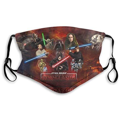 CDKZ Star_Wars Revenge of The Sith Face Wiederverwendbare Waschbar Einzigartige Designs S Einstellbar Mit Filter 3D Unisex Sport Weiß