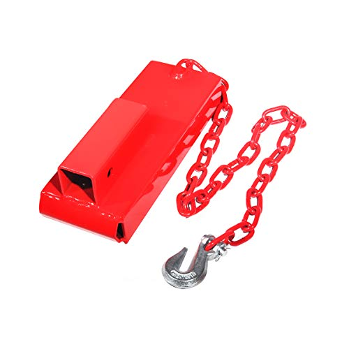 """Sulythw Forklift Hitch Receiver 2"""" Insert Pallet Forks Trailer Towing Adapter with Safety Chain"""
