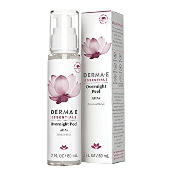 DERMA E Overnight Peel Face Mask with Alpha Hydroxy Acids Non-abrasive face lotion Retexturizes While You Sleep Diminishes Acne Scars & Dead Skin Reduces Signs of Hyperpigmentation & Uneven Skin