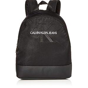 412mWFSoqiL. SS300  - Calvin Klein - Ckj Monogram Nylon Cp Bp 35, Mochilas Mujer, Negro (Black), 0.1x0.1x0.1 cm (W x H L)