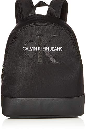 Calvin Klein Ckj Monogram Nylon Cp Bp 35 - Zaini Donna, Nero (Black),...