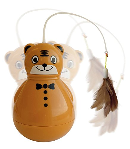 M-PETS Electronic Tiger Orange 10x10x17cm pour Chat