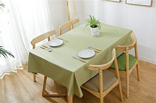 Yinaa Manteles Antimanchas para Banquetes Boda Recepciones Algodón Lino Grueso Simple Formal o Informal Celebrations y Eventos Verde Claro 110 × 170cm