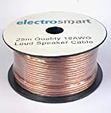 electrosmart 25m Quality 18AWG Loud Speaker Cable...