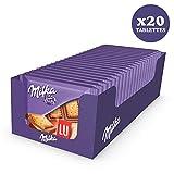 Milka Lu mini tablettes chocolat au lait pocket - Présentoir de 20