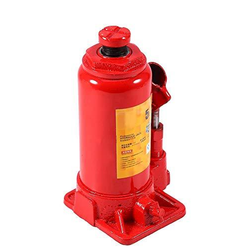 Gato hidráulico para carretilla, 5T, portátil, vertical, resistente, para coche, furgoneta, barco, camión, color rojo