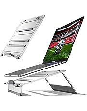 Newaner Laptop standaard opvouwbaar aluminium, PC Houder, Hoogte Verstelbaar, Compatibel met notebook (10-17inch) inclusief MacBook Pro/Air Surface Lenovo Hp Asus Acer Dell MSI Samsung Huawei