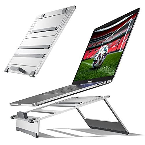 Newaner Supporto per computer con rialzo in alluminio, per desktop, supporto regolabile in altezza, PC portatile ventilato regolabile, ergonomico, per MacBook Pro/Air, Notebook(11-17 pollici)