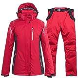 UJDKCF Mujeres Hombres Traje de esquí Snowboard Chaqueta pantalón Unisex esquiando Ropa pantalón Invierno Color 3 L