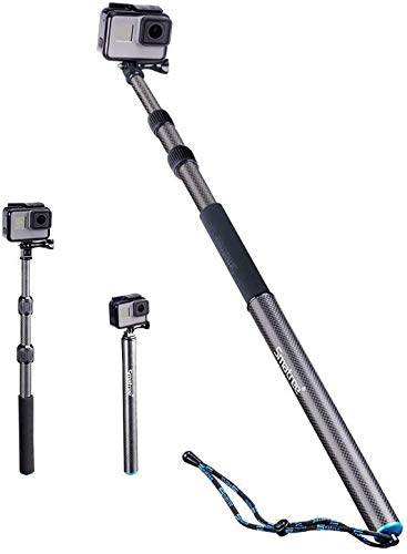 Smatree S2 All-Aluminum Alloy Telescopic Pole Compatible for GoPro Hero 9/8/7/6/5/4/3 Plus/3/2/1/Session/Gopro Max/DJI OSMO Action Camera (WiFi Remote Controller is Not Included)