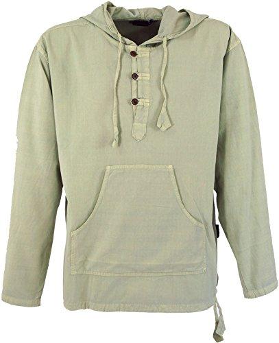 Guru-Shop Ethno Sweatshirt Goa Hippie, Herren, Natur, Baumwolle, Size:L, Sweatshirts & Hoodies Alternative Bekleidung