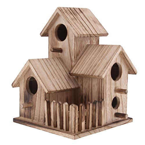Sharplace Casa Uccelli Birdhouse Nido Scatola Arredamento Giardino Legno - 2