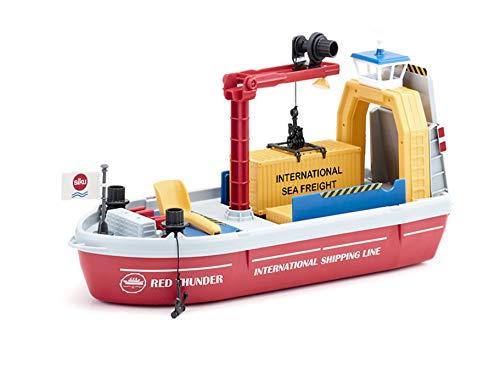 SIKU 5403, Containerschiff inkl. Zubehör, Kunststoff, Bunt, Inkl. 1 Schaufel und 2 Containern, Viele Funktionen, Kombinierbar mit SIKU Modellen im gleichen Maßstab
