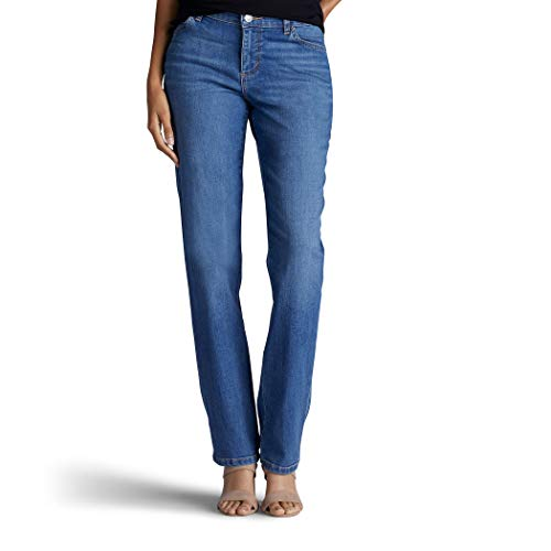 Lee Damen Jeans mit geradem Bein - Blau - 46 Hoch