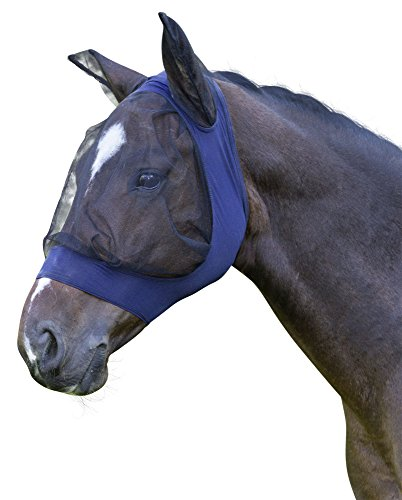 Kerbl 325841 Fliegenschutzmaske Fino Strech WB, blau
