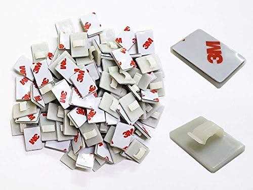 AUTOMAX izumi クリップ (白) 100個1セット ホワイト 配線コード固定用 配線留め 配線止め 配線クランプ