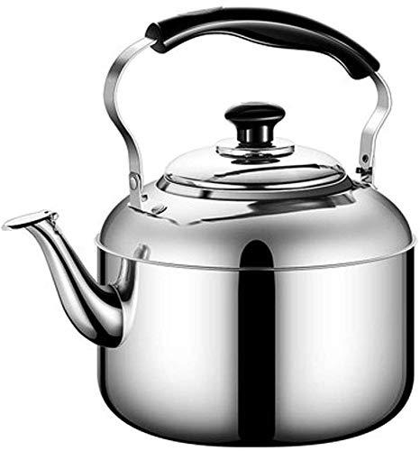 Bouilloire induction Théière épaissir la cuisinière à induction à induction Whistling Bouilloire avec poignée d'isolation Safe Induction Housse de cuillère à gaz Théière Café WHLONG (Size : 5L)