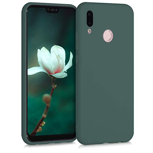kwmobile Hülle kompatibel mit Huawei P20 Lite - Hülle Silikon - Soft Handyhülle - Handy Case in Blaugrün