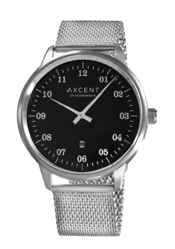 Axcent IX20323-212 - Orologio da polso donna, acciaio inox, colore: argento