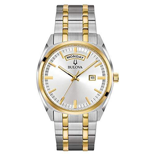Relógio masculino Bulova, Dois tons, ouro