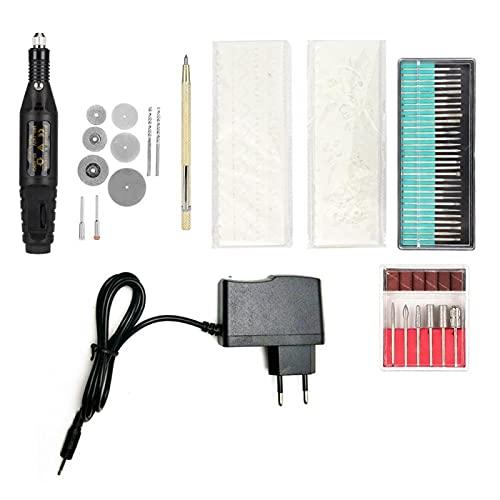 Kit de herramientas de grabado Mini máquina de grabado Juego de herramientas de amoladora de grabador eléctrico 110-240V 71PCS(EU plug-220V)