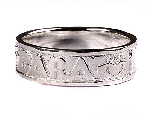 Anam Cara Mo céltico irlandés de mi alma gemela con plata anillo Claddagh diseño de caballero