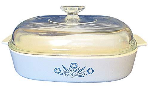 Vintage  Ware  Blue Cornflower Casserole 2.5 Liter - With Lid - Corning A-10-B
