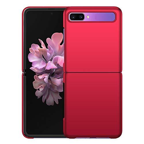 YIIWAY Samsung Galaxy Z Flip Hülle, Rot Sehr Dünn Schutz Hülle Handyhülle Harte Schutzhülle Hülle für Samsung Galaxy Z Flip 5G YW41266
