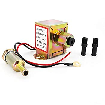 Electric Fuel Pump 12v 4.5-7psi Universal Standard Self Priming Heavy Duty Gas Diesel In-Line In-Tank Electric Fuel Pump With Installation Kit Metal Solid Petro Gasoline or Diesel Engine EP014