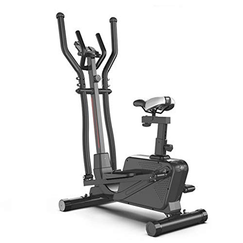 AORISSE Cyclette Ellittica, 3 in 1 Fitness Cross Trainer A Controllo Magnetico Macchina Ellittica Fitness Cyclette Space Walker Machine con Attrezzatura da Palestra,Nero