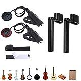 Binjor 4Pcs Pickup de Guitarra Transducto Micrófono Pickup Pastillas Fonocaptoras para In...