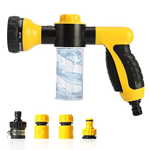 Garden Hose Spray Gun Set 8 Different Spray Garden Nozzle Patterns with The...