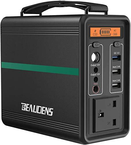 【電池革命】Beaudens ポータブル電源 52000mAh/166Wh LiFePO4電池採用 PSE認証取得 10年超長寿命 2000回充放電サイクル AC(150W 最大200W)DC/USB QC3.0出力 小型軽量 家庭用蓄電池 車中泊 キャン