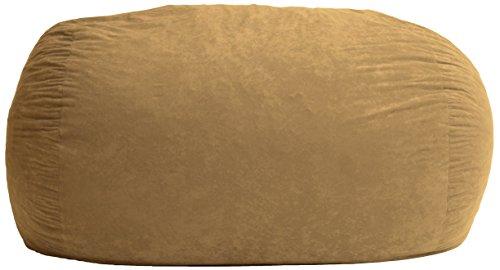 Big Joe Fuf Foam Filled Bean Bag Chair, Sierra Red Comfort Suede, XL