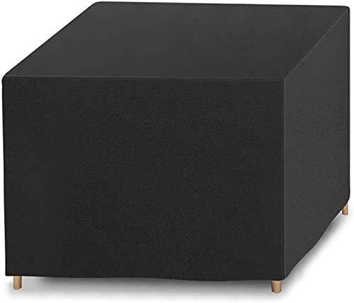 AXAA Cubiertas de Mesa de jardín 213x132x72cm, Cuadrado Impermeable, Anti-UV, protección contra la Nieve, Cubierta de Mesa de Patio, para mesas, Protector de Muebles de Exterior para sillas apila