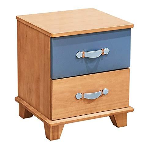 Nachttisch Met Love Frisiertisch Massivholz Kinderzimmer Schlafzimmer Schrank Bett Seite Holz + Pappel (Color : Wood Color, Size : 42 * 38 * 50cm)