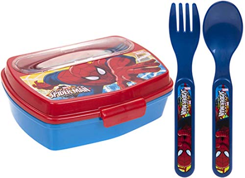 Kids Marvel Ultimate Spider Man Lunch Box Favourite Characters Children...