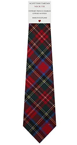 I Luv Ltd Cravate en Laine pour Homme Tissée et Fabriquée en Ecosse à Charles Edward Stewart Modern Tartan