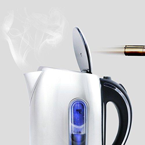 Aigostar Black Pearl 30IMV - Hervidor de agua Premium con 7 niveles de temperatura, termostato...