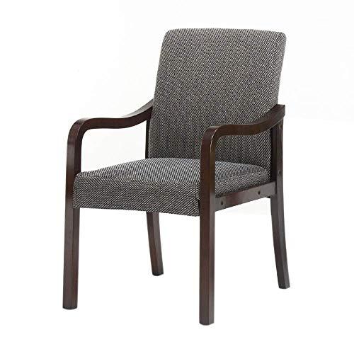 YLCJ Sedie stoelhoes gemaakt van massief hout met rugleuning, moderne stoel in Scandinavische stijl, restaurant hotel Studio (donkergrijs) modern Donkergrijs