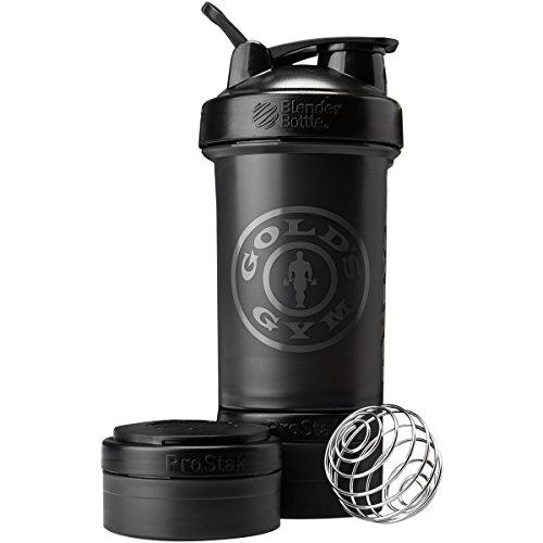 Blender Bottle Gold's Gym ProStak 22 oz. Shaker with Twist N' Lock Jars - Black