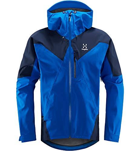 Haglöfs Skijacke Herren Skijacke L.I.M Touring Proof Wasserdicht, Winddicht, Atmungsaktiv, Kleines Packmaß Storm Blue/Tarn Blue XL XL